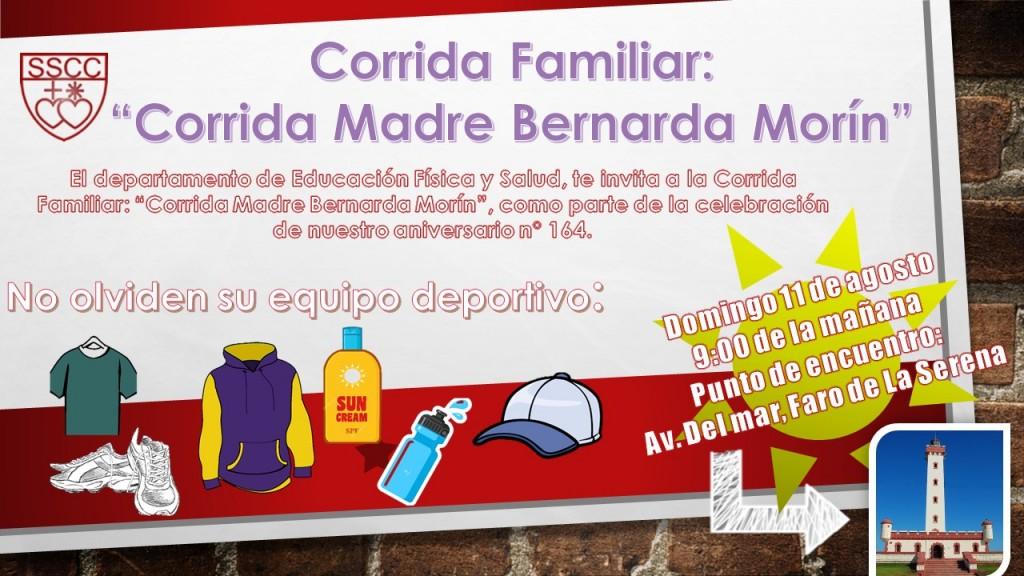 corrida familiar Bernarda Morin 2019