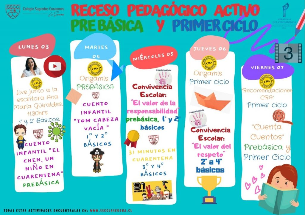 Afiche receso pedagogico